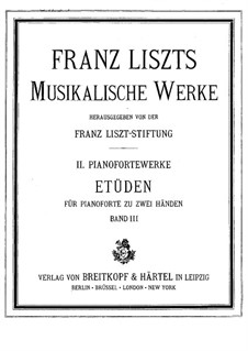 Grosse Etüden nach Paganini, S.140: Grosse Etüden nach Paganini by Franz Liszt