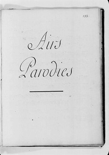 Airs. Parodies: Airs. Parodies by Claude-Bénigne Balbastre