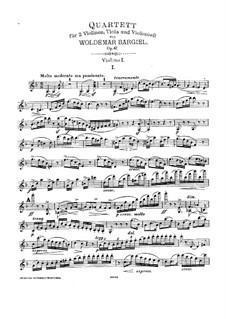 Streichquartett Nr.4 in d-Moll, Op.47: Stimmen by Woldemar Bargiel