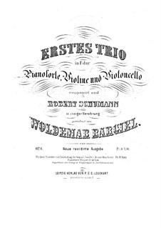 Klaviertrio No.1, Op.6: Vollpartitur und Stimmen by Woldemar Bargiel