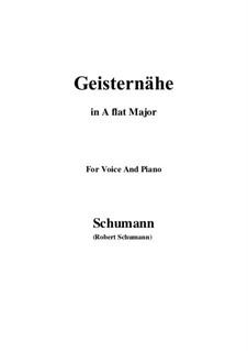 Lieder und Gesänge, Op.77: No.3 Geisternähe (A flat Major) by Robert Schumann