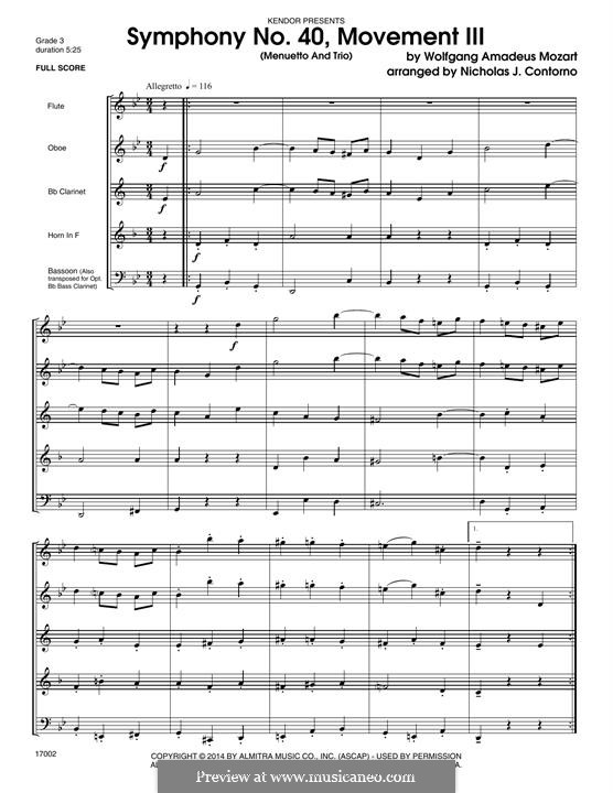 Teil III: For winds - full score by Wolfgang Amadeus Mozart