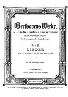 Zwanzig irische Lieder, WoO 153: Zwanzig irische Lieder by Ludwig van Beethoven