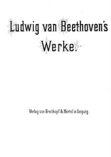 Sechs Ländlerische Tänze für zwei Violinen und Cello, WoO 15: Vollständiger Satz, für Klavier, vierhändig by Ludwig van Beethoven
