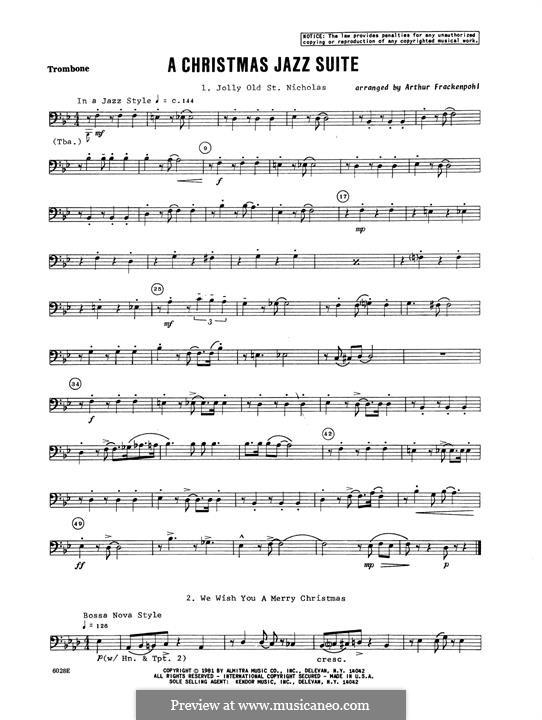 Christmas Jazz Suite: Posaunenstimme by folklore