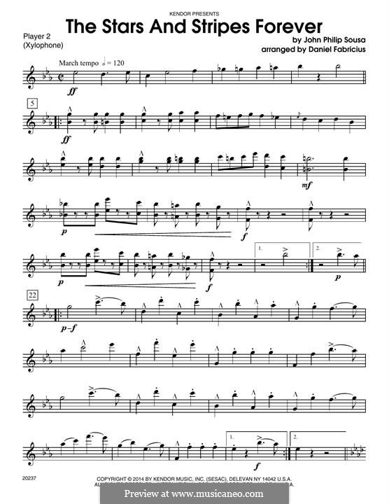 Stars and Stripes Forever : For percussion - Percussion 2 by John Philip Sousa