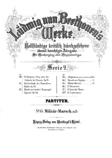 Militärmarsch, WoO 24: Vollpartitur by Ludwig van Beethoven