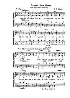 Danket dem Herrn (Zu besonderen Festen): Danket dem Herrn (Zu besonderen Festen) by Johann Heinrich Lützel
