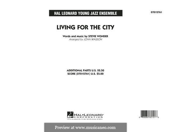 Living for the City (arr. John Wasson): Vollpartitur by Stevie Wonder