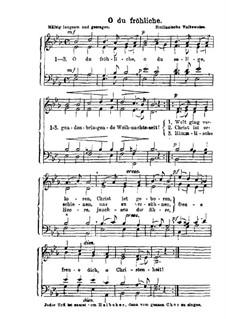 O du fröhliche: Für Chor by folklore