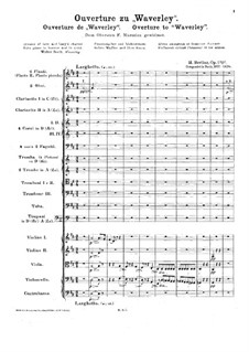 Waverley. Ouvertüre, H.26 Op.1: Waverley. Ouvertüre by Hector Berlioz