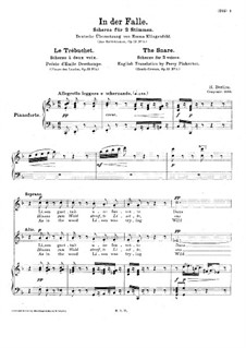 Fleurs des landes, H.124 Op.13: Le Trébuchet, for two voices and piano by Hector Berlioz
