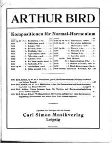 Zehn Stücke für Harmonium, Op.37: Zehn Stücke für Harmonium by Arthur Bird