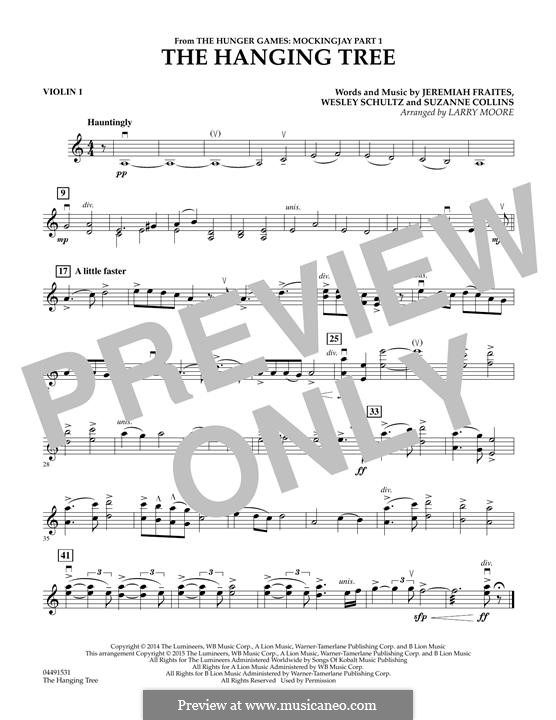 The Hanging Tree: For strings - Violin 1 part by Jeremy Fraites, Wesley Schultz, Suzanne Collins