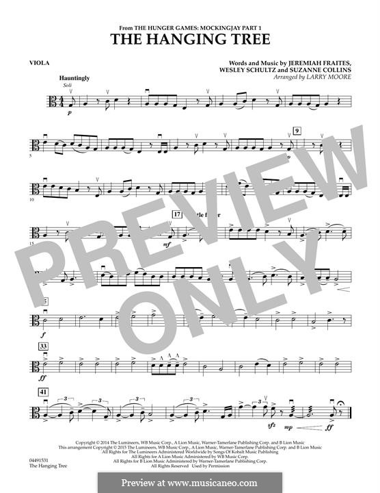 The Hanging Tree: For strings - Viola part by Jeremy Fraites, Wesley Schultz, Suzanne Collins