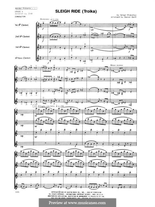 Leutnant Kishe, Op.60: Troika (Sleigh Ride) – Full Score by Sergei Prokofjew