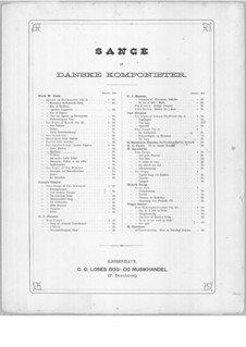 Vier dänischen Lieder für Stimme und Klavier: No.2 Havfruen (Mermaid) by Niels Wilhelm Gade