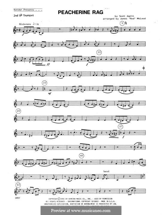 Peacherine Rag: For winds - 3rd Bb Trumpet part by Scott Joplin