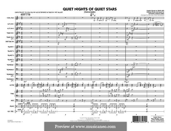 Quiet Nights of Quiet Stars (Corcovado) arr. Michael Philip Mossman: Vollpartitur by Antonio Carlos Jobim