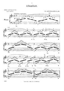 Albumblatt, Op.66: Albumblatt by Friedrich Grützmacher