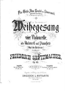 Weihegesang für Cello und Klavier, Op.65: Partitur by Friedrich Grützmacher