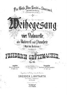 Weihegesang für Cello und Klavier, Op.65: Cellostimme by Friedrich Grützmacher