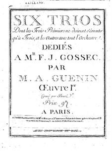 Sechs Streichtrios, Op.1: Violinstimme by Marie Alexandre Guénin