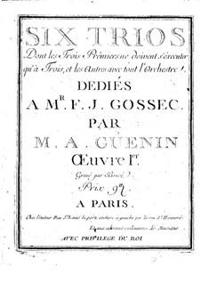 Sechs Streichtrios, Op.1: Cellostimme by Marie Alexandre Guénin