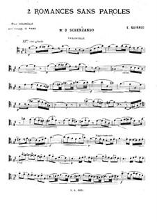 Zwei Romanzen ohne Worte für Cello und Klavier: Romanze Nr.2 – Solo Stimme by Ernest Guiraud