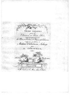 Drei Sonaten für Violine (oder Flöte), Cello und Cembalo (oder Klavier), Op.17a: Cellostimme by Adalbert Gyrowetz