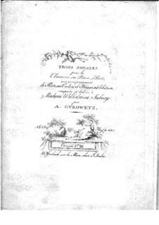 Drei Sonaten für Violine (oder Flöte), Cello und Cembalo (oder Klavier), Op.17a: Tasteninstrument Stimme by Adalbert Gyrowetz