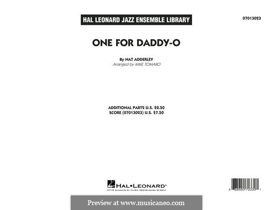 One for Daddy-O: Vollpartitur by Nat Adderley Jr.