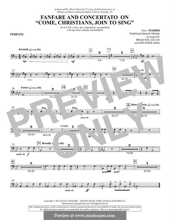 Fanfare and Concertato on 'Come, Christians, Join to Sing': Paukenstimme by folklore
