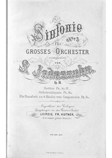 Sinfinie Nr.3 in d-Moll, Op.50: Sinfinie Nr.3 in d-Moll by Salomon Jadassohn