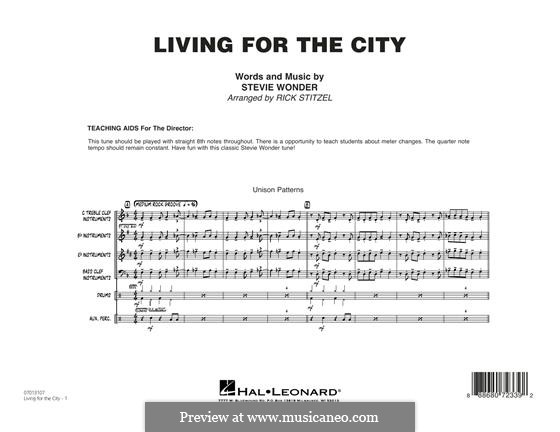 Living for the City: Vollpartitur by Stevie Wonder
