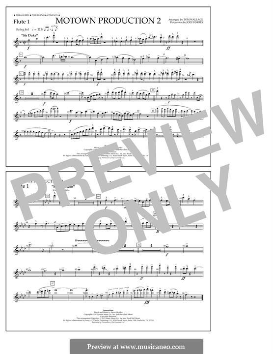 Motown Production 2: Flute 1 part by Stevie Wonder