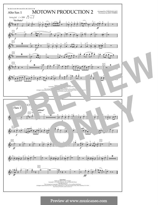 Motown Production 2: Alto Sax 1 part by Stevie Wonder