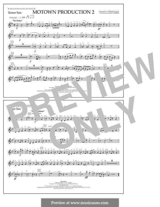 Motown Production 2: Tenor Sax part by Stevie Wonder