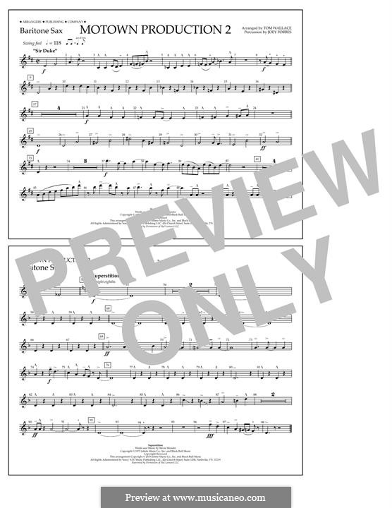Motown Production 2: Baritone Sax part by Stevie Wonder