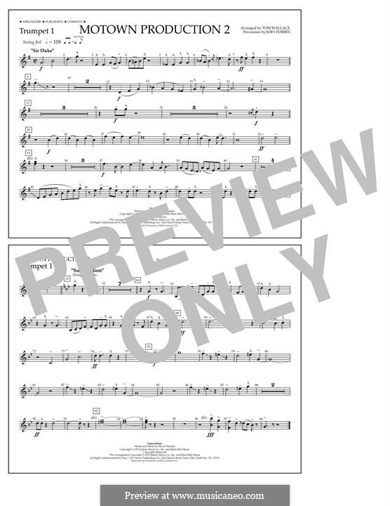Motown Production 2: Trumpet 1 part by Stevie Wonder