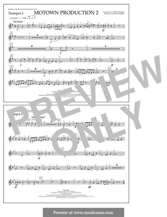 Motown Production 2: Trumpet 2 part by Stevie Wonder