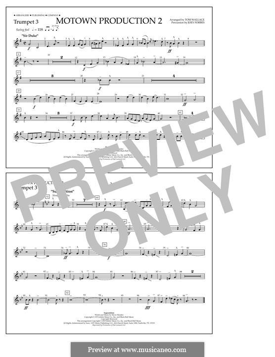 Motown Production 2: Trumpet 3 part by Stevie Wonder