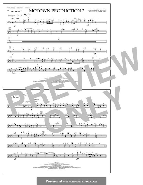 Motown Production 2: Trombone 1 part by Stevie Wonder