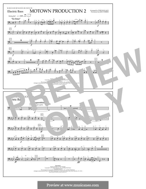 Motown Production 2: Electric Bass part by Stevie Wonder