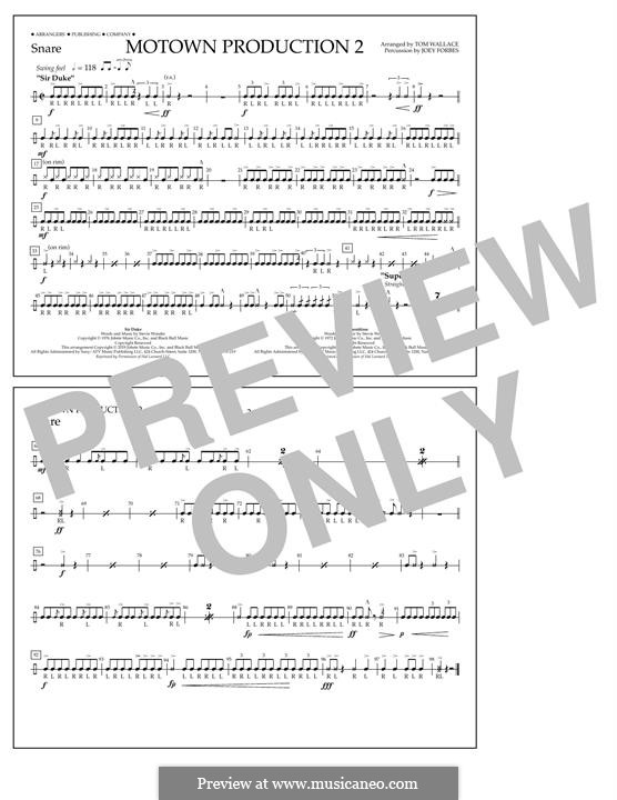 Motown Production 2: Snare part by Stevie Wonder