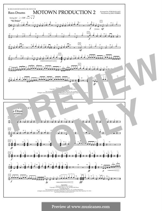 Motown Production 2: Bass Drums part by Stevie Wonder