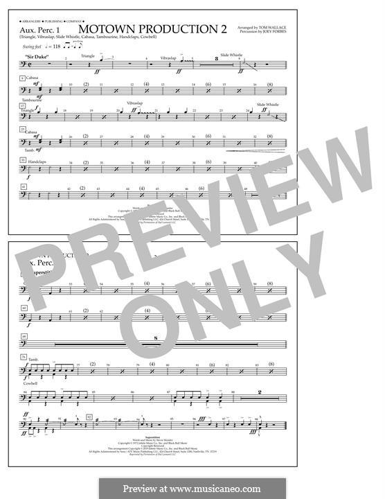 Motown Production 2: Aux. Perc. 1 part by Stevie Wonder