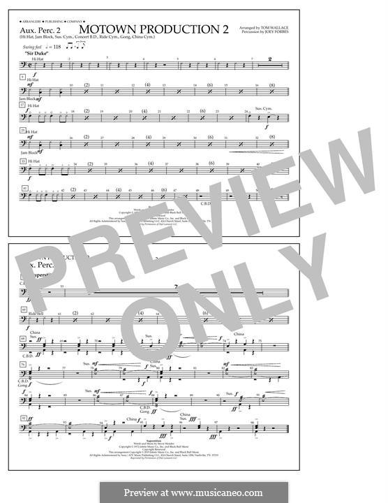 Motown Production 2: Aux. Perc. 2 part by Stevie Wonder