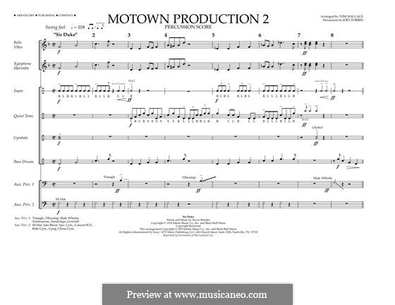 Motown Production 2: Percussion Score by Stevie Wonder
