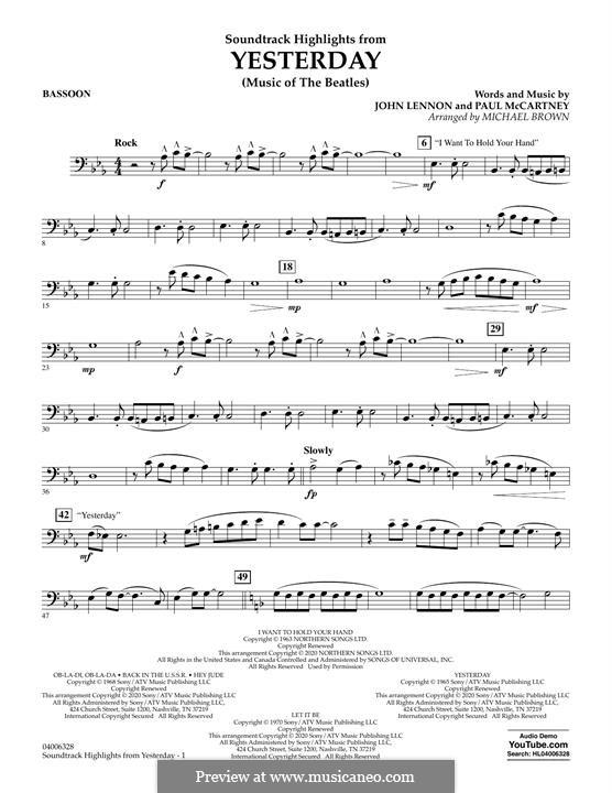 Highlights from Yesterday (Music of The Beatles): Fagottstimme by John Lennon, Paul McCartney